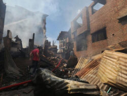 Residents of Kanimaazar in Srinagar accuse police of looting, burning their house during operation