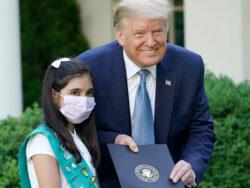 Pakistani American girl honored by Trump as one of the heroes of coronavirus