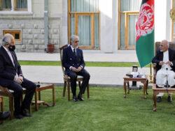 Zalmay Khalilzad meets Ashraf Ghani, Dr Abdullah Abdullah
